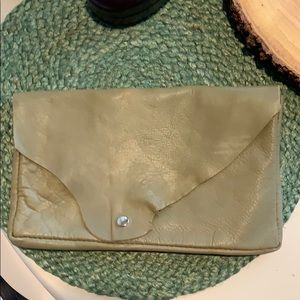 Handbags - Handmade leather clutch bag.